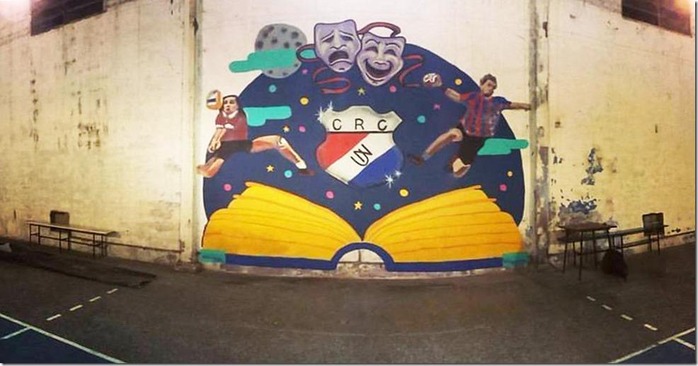 Mural en el Unión