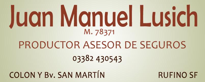 JUAN MANUEL LUSICH