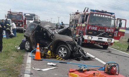 Tres víctimas fatales en Ruta 33 todos integrantes de una familia