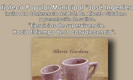 El profesor Alberto Giordano brindará conferencia en Rufino