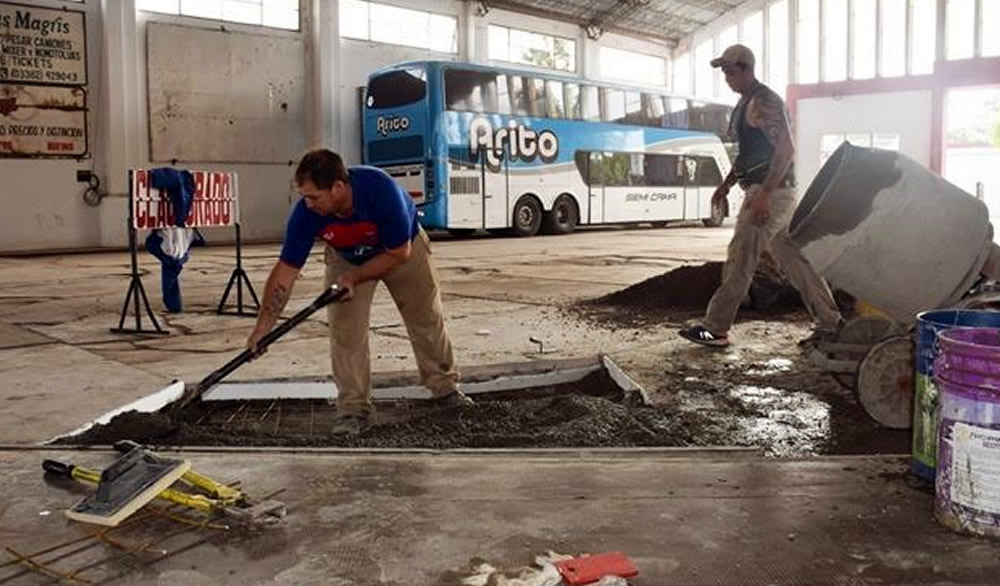 Mantenimientos en Terminal de Omnibus