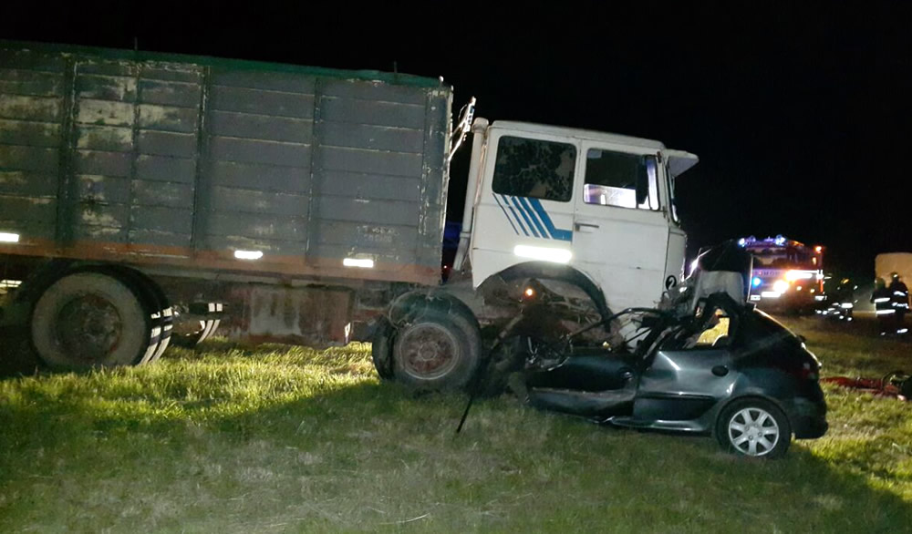 Un fallecido en ruta 33 entre Amenabar y Sancti Spiritu