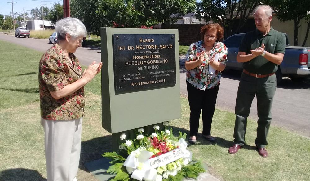 Recuerdan la Memoria de Hector Salvo