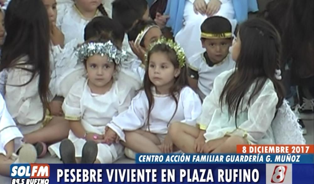 Pesebre Viviente en Plaza Gerónimo y Francisco Rufino