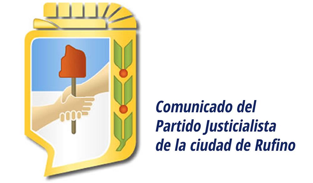 El Partido Justicialista de Rufino repudia la persecución