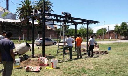 Instalaron una Estación Solar en el Skate Park de Rufino