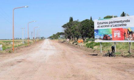 La provincia comenzó la obra de pavimentación del acceso a Lazzarino