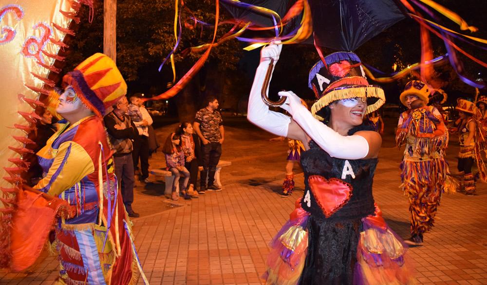 Festejos de Carnaval en Plaza Sarmiento de Rufino