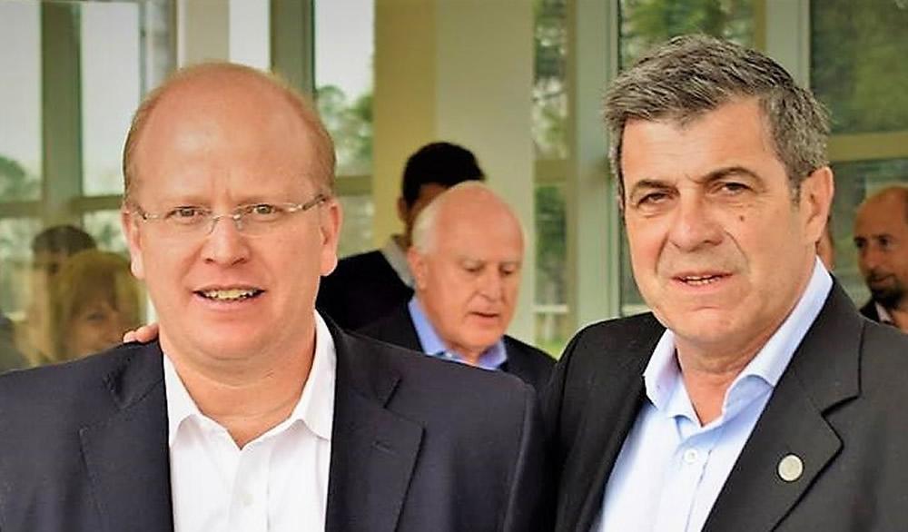 Contigiani y Pieroni buscan avanzar en una solución al conflicto de los transportistas
