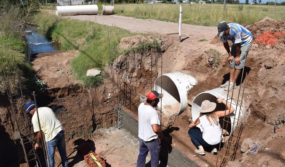 Continúan las obras en Canal Iriondo