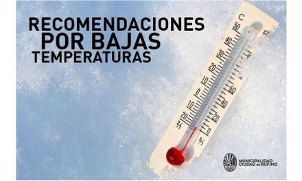 Recomendaciones por bajas temperaturas