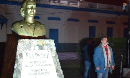 Recordaron a Evita en la plazoleta de La Lealtad en Rufino
