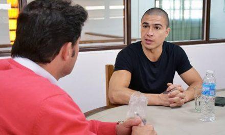 """""""El Macho"""" visitó Rufino luego de su triunfo"""