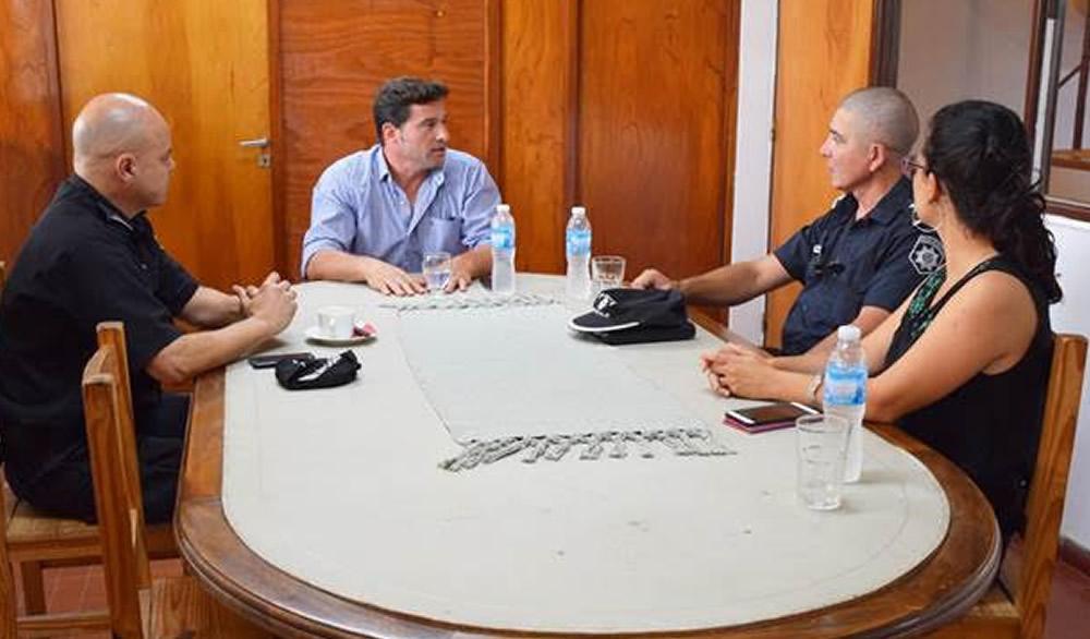 El nuevo Jefe Regional de Policía se reunió con el intendente Lattanzi