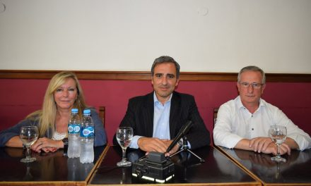 Cachi Martinez, Osvaldo Miatello y Mariela Bueno en Rufino