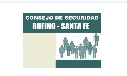 El Consejo de Seguridad ciudadana comunica a los vecinos de la ciudad de Rufino su situación con el Intendente Municipal
