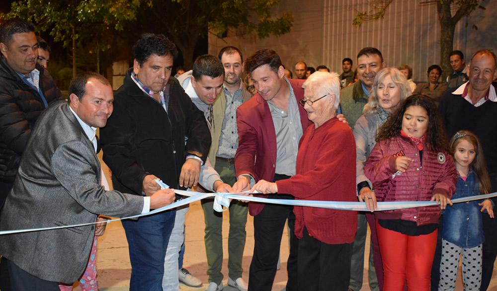 Inauguración de la obra integral de calle Lorenzetti