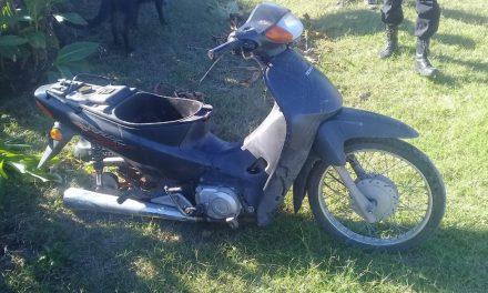 Hallan motocicleta Honda Biz