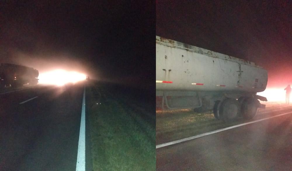 Accidente entre dos camiones en cercanias de Sancti Spiritu