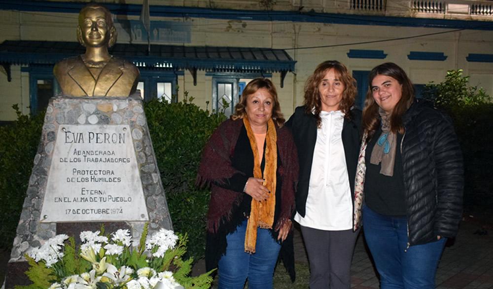 Eva Perón a 100 años de su nacimiento el peronismo de Rufino la homenajeó