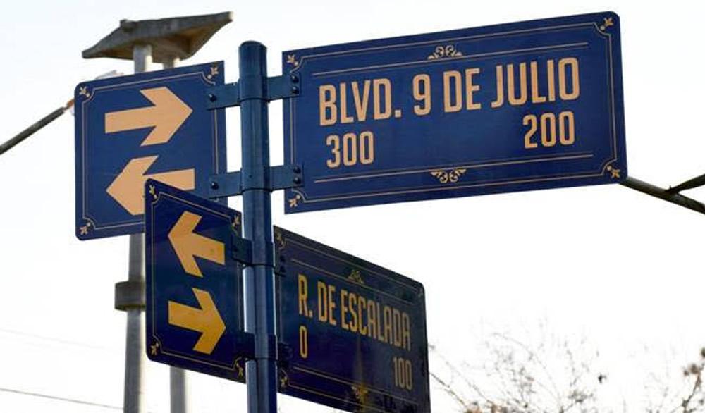 Nueva cartelería en el barrio General San Martín