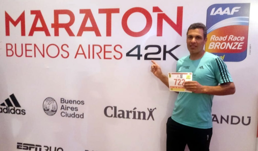 Walter Marseu y Sergio Vitti participaron de la Maratón 42 km