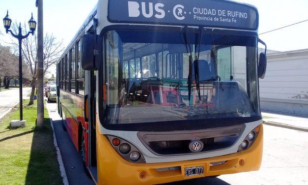Comenzó a funcionar esta semana el transporte público de pasajeros en Rufino
