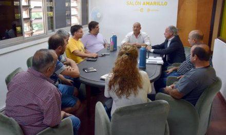 Reunión de transportistas con el intendente y concejales