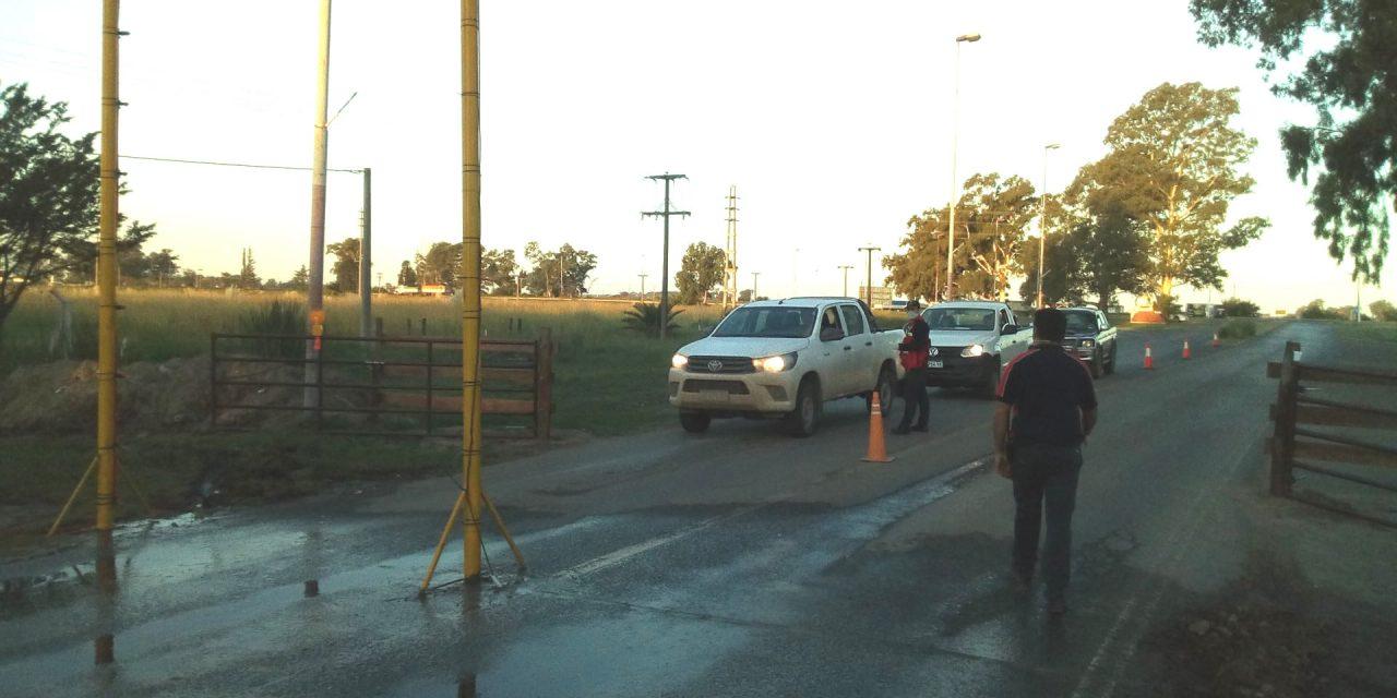 Bomberos continúa colaborando en el puesto de descontaminación en Rufino