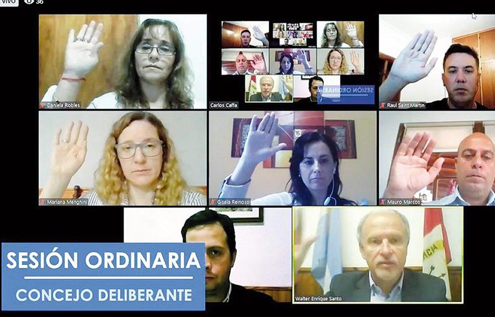 El Concejo Deliberante de Rufino sesionó por video llamada