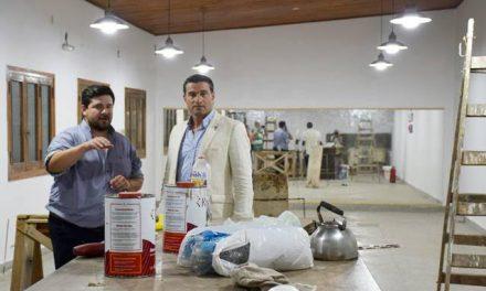 Recorrida por el Centro Cultural en obras por mejoras