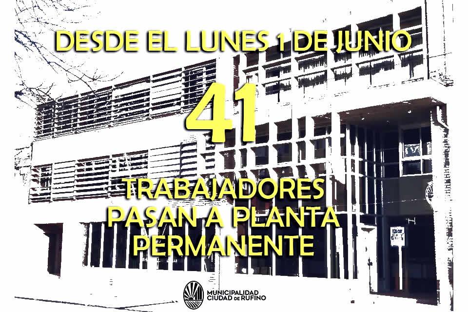 Se efectivizaron 41 trabajadores municipales