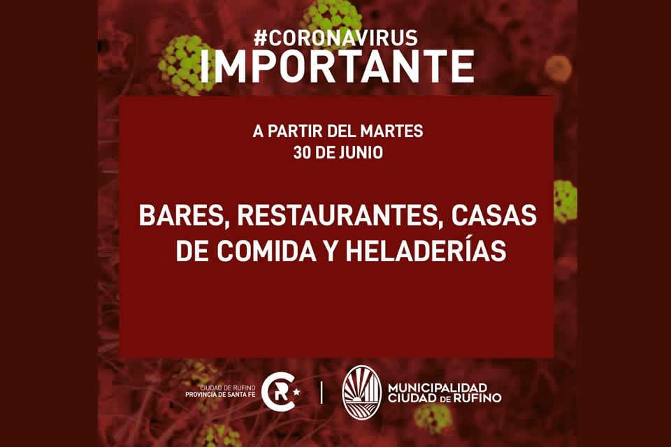A partir de hoy martes los bares y restaurantes podrán abrir al público todos los días de 8 a 24 horas