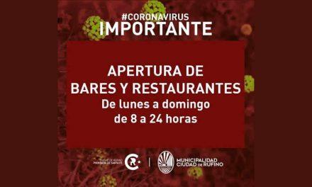 Bares y restaurantes habilitados