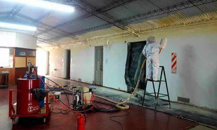 Trabajos en el Centro Cultural de Rufino