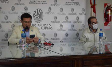 Intendente Natalio Lattanzi junto al Dr. Silvio Teixido