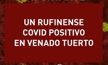 Un rufinense con Covid 19 positivo en Venado Tuerto