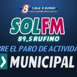 El municipio de Rufino se refirió al Paro Municipal