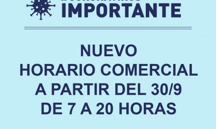 Nuevo horario comercial en Rufino de 7 a 20 horas