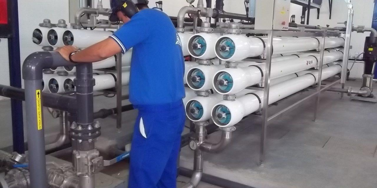 importantes obras de mantenimiento y mejora en la planta potabilizadora de Rufino