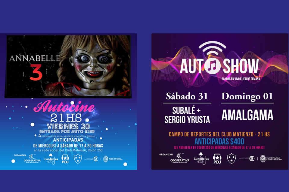 AutoCine y AutoShow desde este viernes