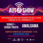 AutoShow este sábado y domingo con Subalé, Sergio Yrusta y Amalgama