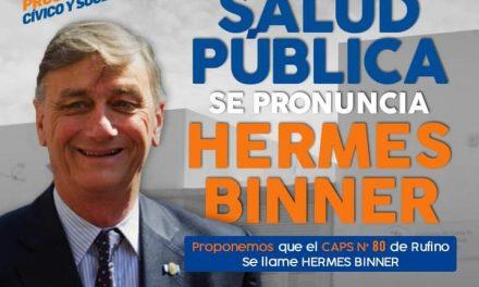 Concejo aprobó que el Caps Nº80 lleve el nombre de Hermes Binner
