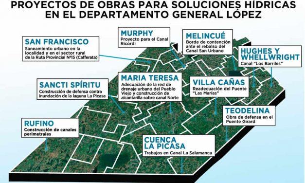 El Senador Enrico solicita la inclusión de obras hídricas para General López en el presupuesto provincial 2021