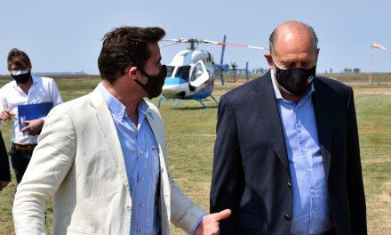 Visita del gobernador Omar perotti a la ciudad de Rufino