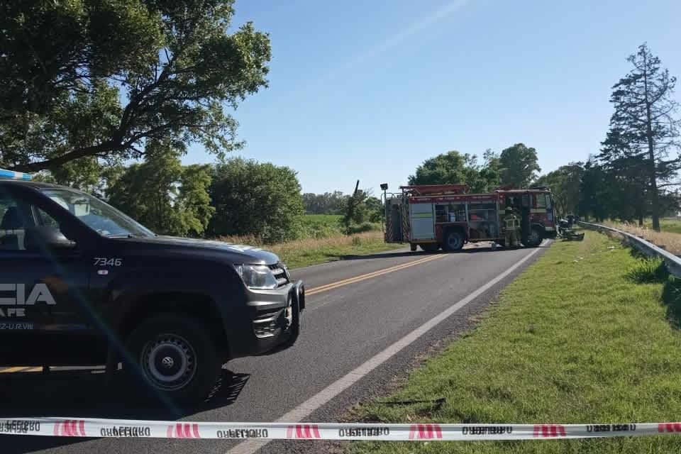Un muerto en grave accidente en Ruta 33 cerca de Rufino