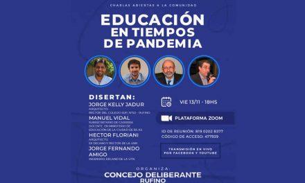 Este viernes, Educación en Tiempos de Pandemia