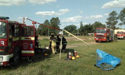 Prácticas y entrenamiento del Cuerpo Activo de Bomberos Voluntarios de Rufino