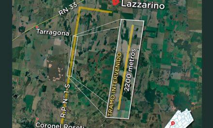 El Senador Enrico, la Comuna de Lazzarino y Vialidad Provincial impulsan mejoras en la Ruta S1 para garantizar la actividad agropecuaria
