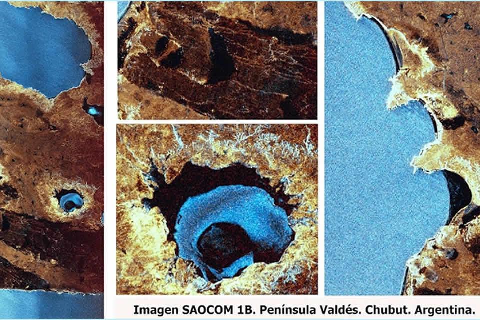 Las primeras imágenes tomadas por el Saocom 1B, el satélite argentino